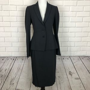 REISS Navy pinstripe skirt suit set sz 4.